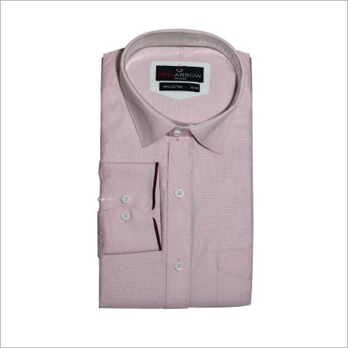 Pink Cotton  Formal Shirts