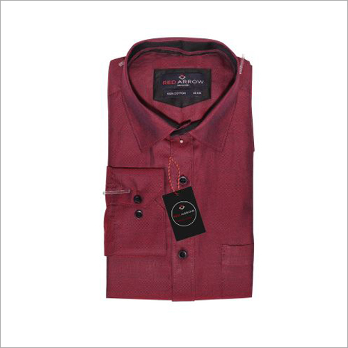 Mehroon Cotton Formal Shirts