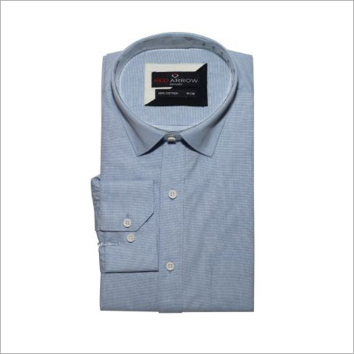 Light Blue Cotton Formal Shirts