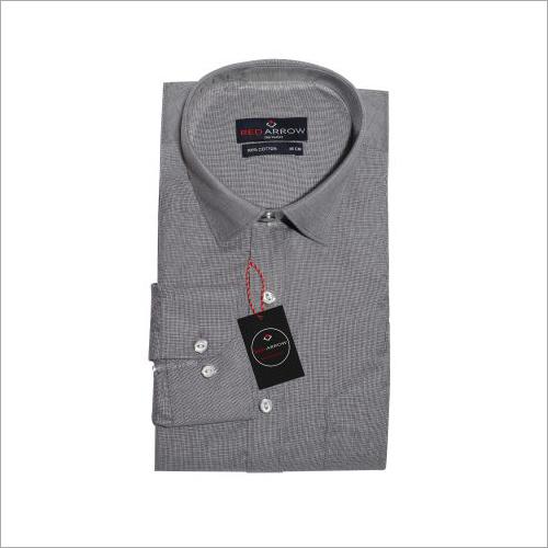 Grey Cotton Formal Shirts