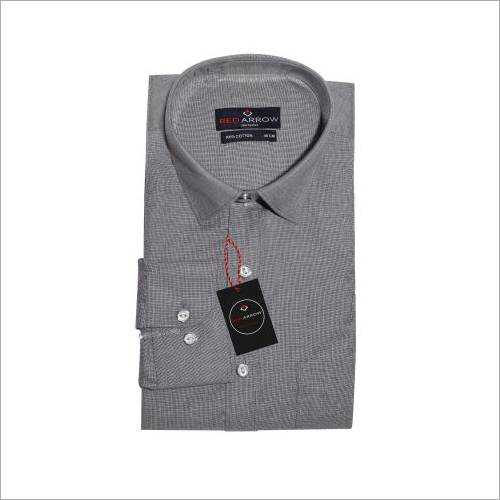 Grey Cotton Formal Shirts