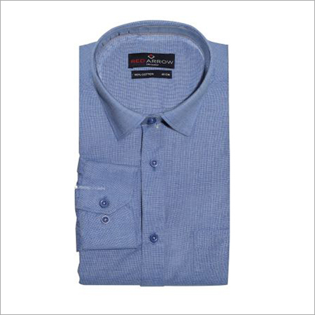 Alice Blue Cotton Formal Shirts