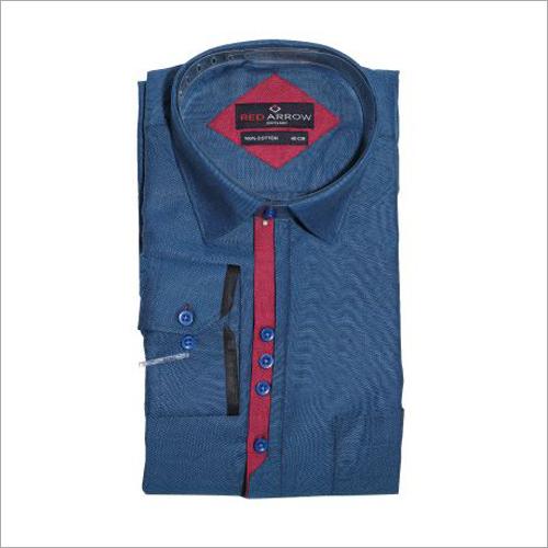 Dark Blue Cotton Formal Shirts