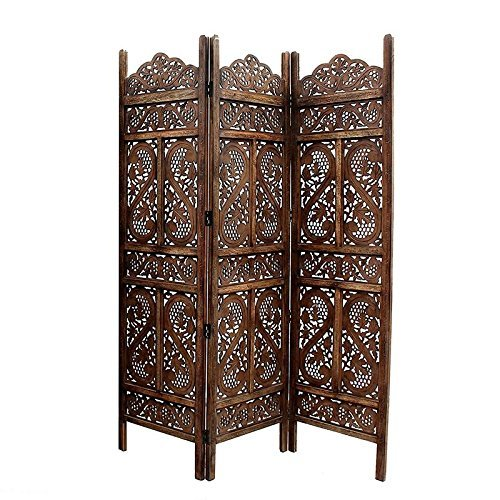 Wooden Partition Home Décor Foldable Room Partition/Screen/Dividers,3 Panels to be Placed in Zig Zag Position Size: 72