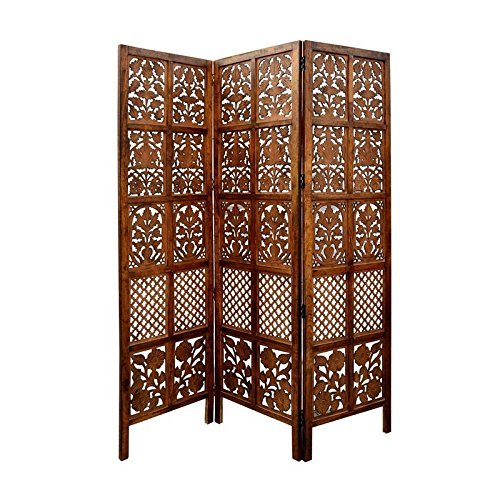Home Décor Wooden Partition Foldable Room Partition/Screen/Dividers,3 Panels to be Placed in Zig Zag Position Size: 72