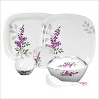 Leaf Printed Ceramic Dinner Set
