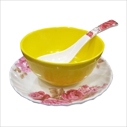 Melamine Crockery Plate With Bowl