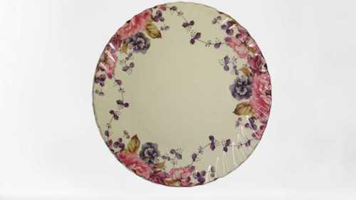 Flower Print Melamine Plate