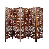 Handcrafted 5 Panel Premium Home Décor Quality White Wooden Room Partition/Wooden Room Divider