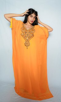 Orange colour Kaftan