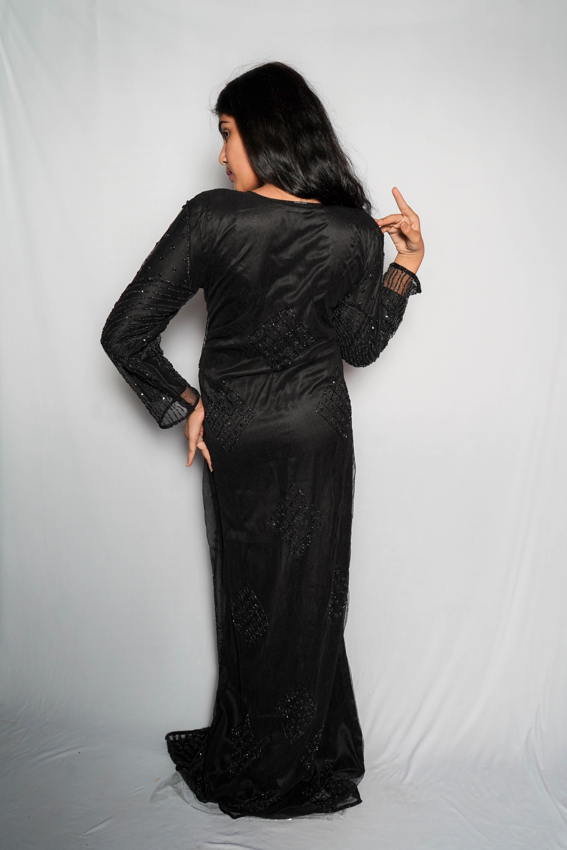 ladies black Gown Dress