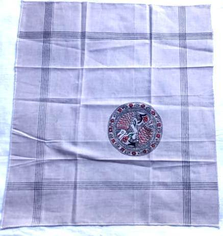 Hand Painted Handkerchief