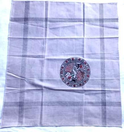 Hand Painted Handkerchief