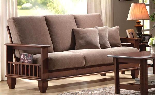 Solid wood Sofa set Chrome