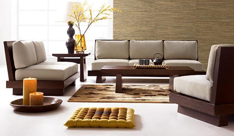 Solid wooden sofa set Mihire