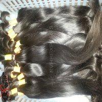 Natural Indian Temple Bulk Human Hair