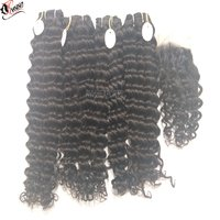 100% Natural Deep Wavy Human Hair Weft For Sale