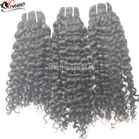 100% Natural Deep Curly Human Hair Weft For Sale