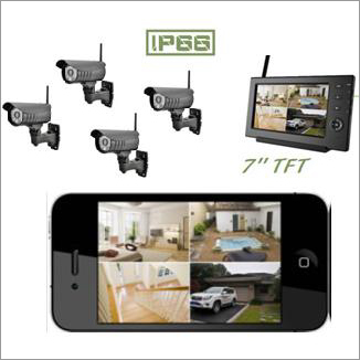 Digital Wireless Camera - 4 Cameras