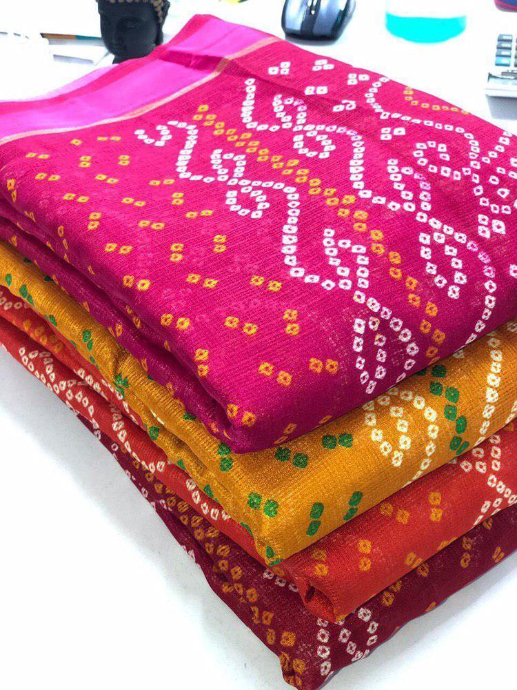 Bandhani Silk Sarees