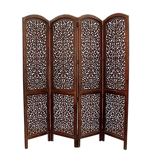 Handcrafted Home Decor4 Panel Premium Quality Wooden Room Partition / Wooden Room Divider / Wooden Screen / Wooden Room Seperator