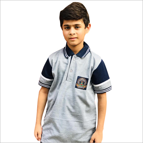 Boys Half Sleeve School Uniform T-Shirt