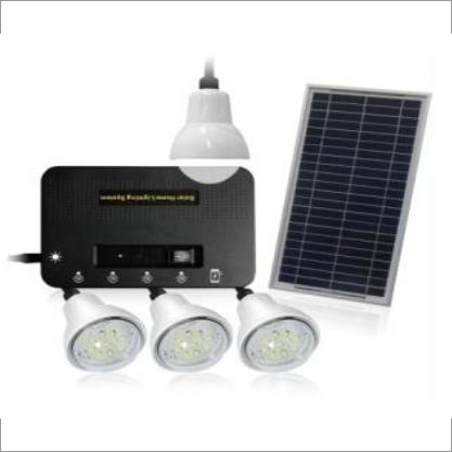 Solar Lighting System With 4 Bulbs
