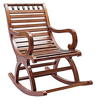 Handmade Wooden Rocking Chair for Living Room Home Decor Gift Item