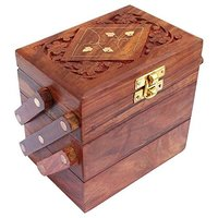Brown Wooden Jewellery Box