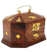 Handmade Wooden Jewellery Box for Women Jewel Organizer Elephant Décor