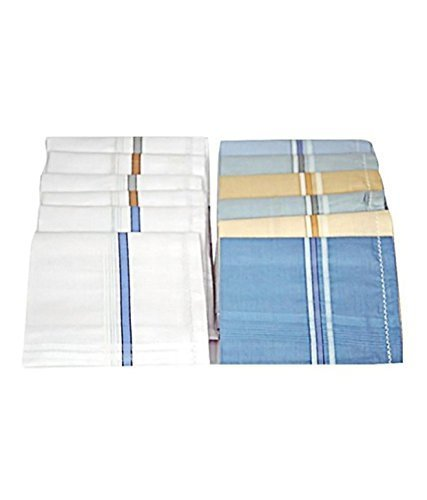 Men's Multicolor Pack of 12 Handkerchief