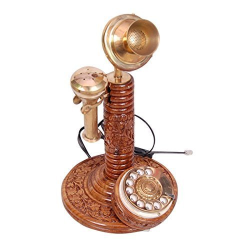 Antique Vintage Maharaja Style Brass Phone Fully Working