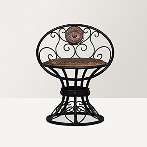 Beautiful Design Wooden & Wrought Iron Chair Size (Lxbxh-16X13X18.5) Inch