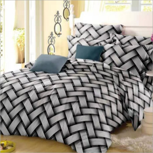 Fancy Double Bed Printed Quilt