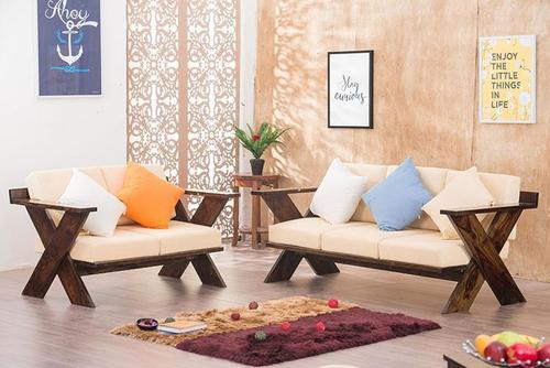 Wooden sofa set Spanos