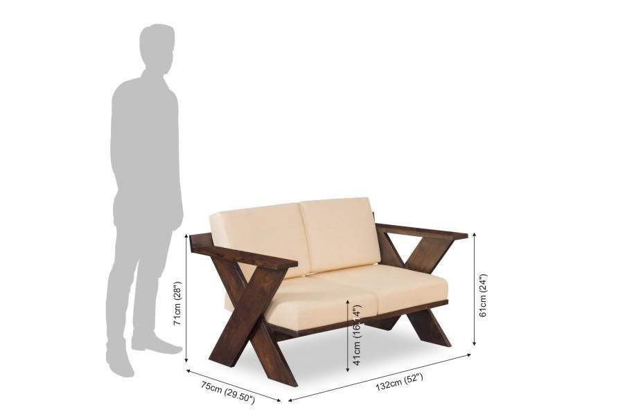 Wooden sofa set Spanos
