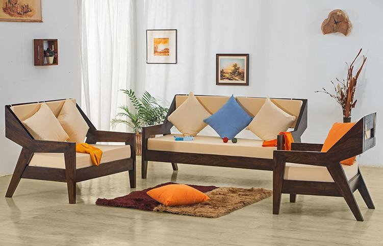 Solid wood Sofa set Alicia
