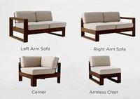 Solid wood sofa set MultiSets design