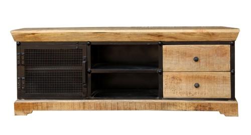 Wooden & Iron TV unit