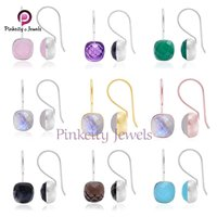 Natural Black Onyx  925 Silver Earring