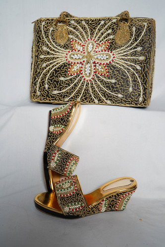 Embroidery Shoes & purse