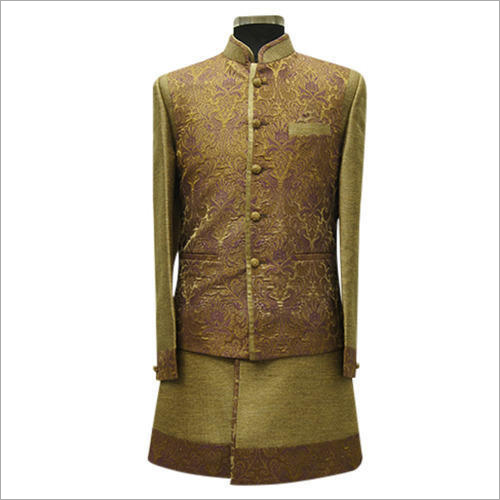 Mens Embroidered Indo Western Sherwani