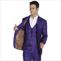 Mens Party Wear 3 Piece Suit
