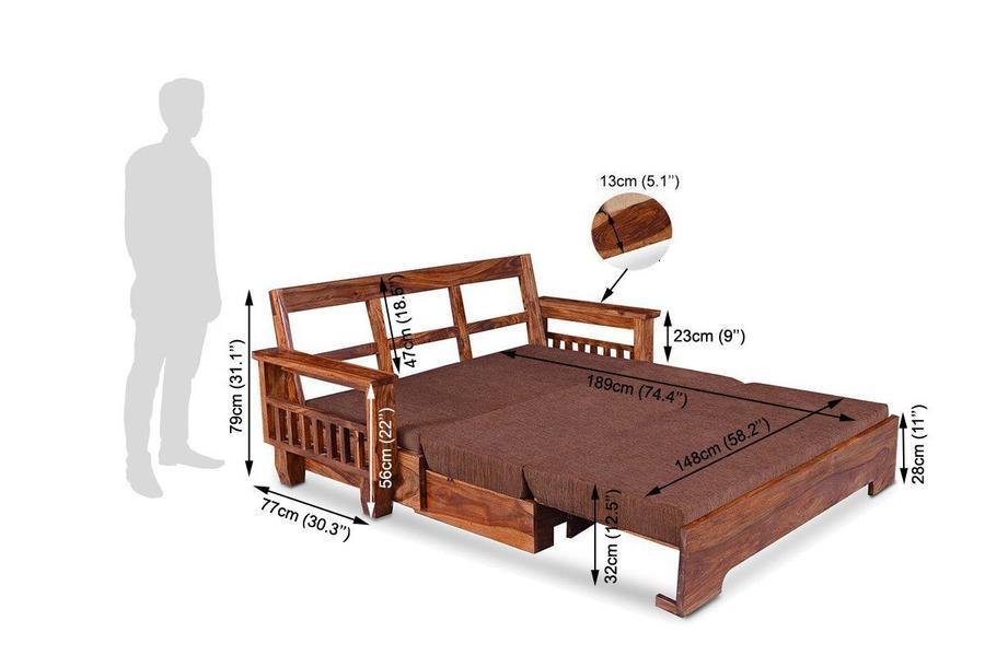 Wooden Sofa cum bed Maestro
