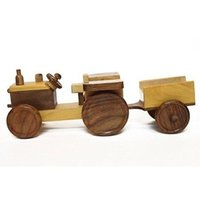 Wooden Toy Tractor Trolly