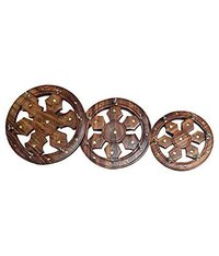 Round Wheel Shaped Key Hangers (Set of 3)