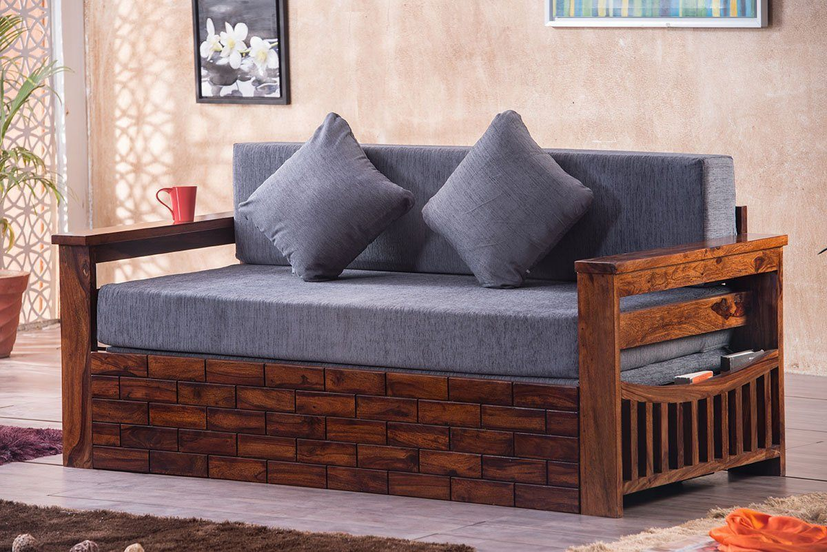 Solid wood Sofa cum bed Majesty