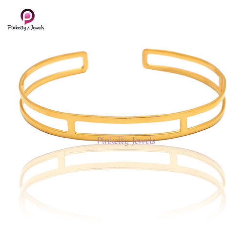 Plain Gold Plated  Bangles 925 Sterling Silver Jewelry