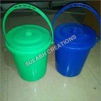 10 ltr Handle & Lid Plastic Dustbin