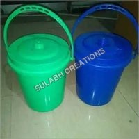 10 ltr Handle & Lid Plastic Dustbin